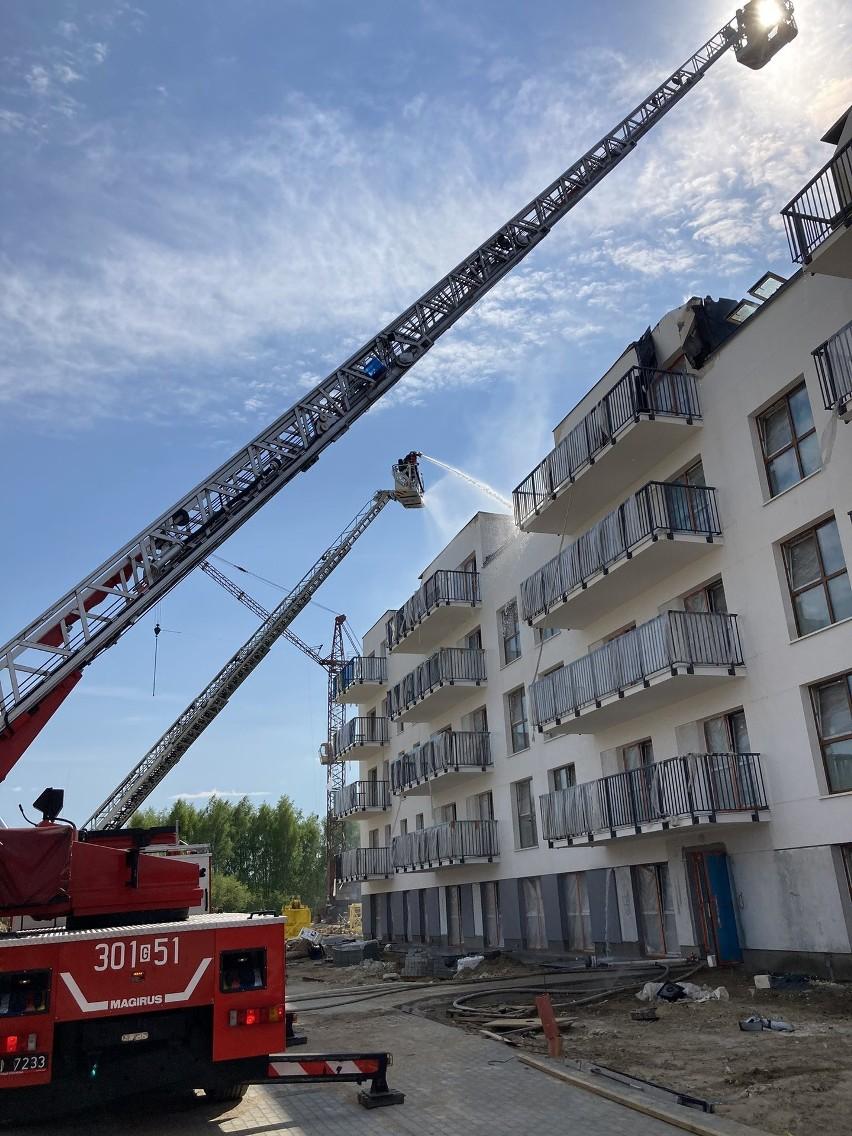 Pożar na Niepołomickiej w Gdańsku, 13.05.2021 r.