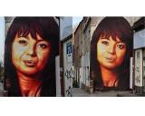 Gdańsk: Portret Anny Przybylskiej na muralu Tusego był krytykowany. Artysta poprawił dzieło. – Dziękuję za konstruktywną krytykę – mówi