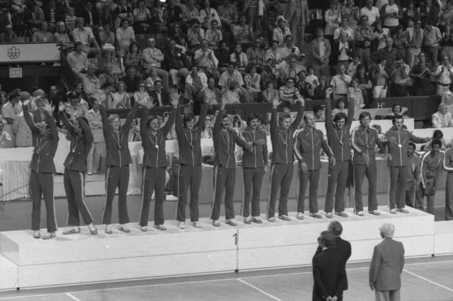Igrzyska Olimpijskie w Montrealu 1976 r. Złota drużyna polskich siatkarzy.