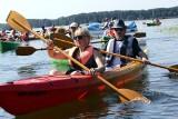 Spływ kajakowy dookoła Jeziora Rudnickiego Wielkiego popłynęło ponad 70 osób [zobacz zdjęcia]