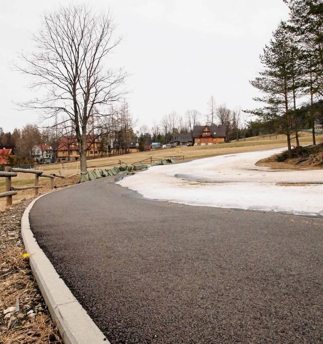 Asfaltowe trasy biegowe COS są już gotowe i użytkowane przez sportowców