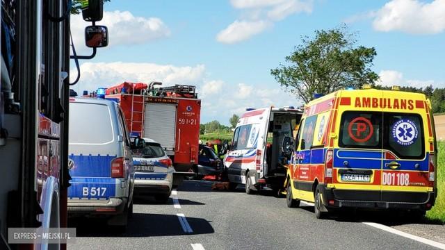 Śmiertelny wypadek na trasie Wrocław - Kłodzko, w okolicach Ząbkowic Śląskich.