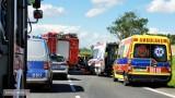 Śmiertelny wypadek na drodze nr 8 Wrocław - Kłodzko. Zginął kierowca subaru [ZDJĘCIA]
