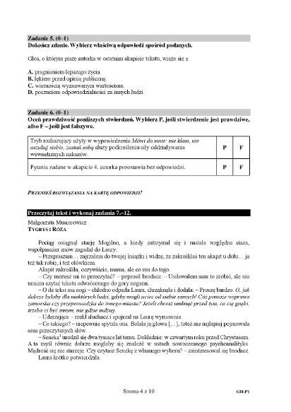 Egzamin Gimnazjalny 2018 Język Polski Odpowiedzi Arkusze Cke