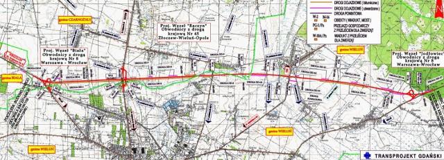 Wzdłuż obwodnicy Wielunia o długości 13,2 km zbudowane zostaną trzy węzły drogowe