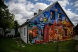 Białystok. Mamy w mieście nowy mural. Na prywatnym domu przy ul. Podleśnej 21