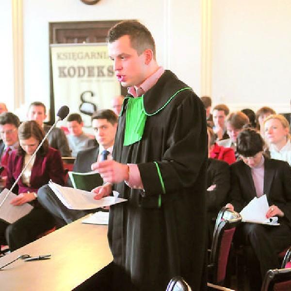 Najlepszym mówcą okazał się aplikant adwokacki Michał Komorowski