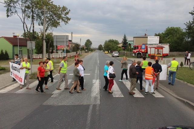 Blokada DK78 w Mierzecicach 14 września 2015