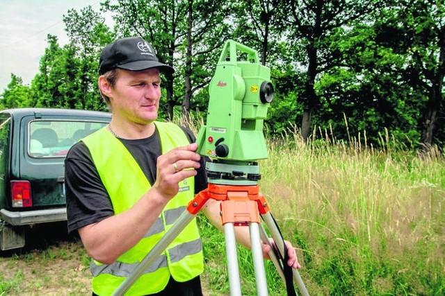 Badania terenu prowadzą pracownicy firmy z Warszawy