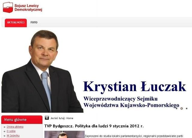 Strona internetowa Krystiana Łuczaka