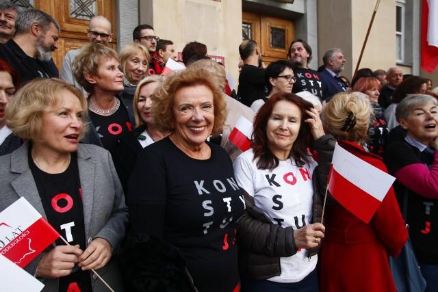 Sędziowie złożyli Łodzianom życzenia z okazji 100-lecia niepodległości