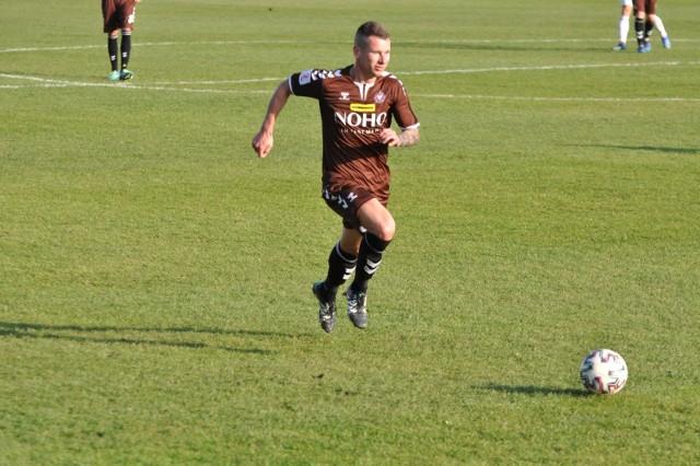 Jakub Kowalski zdobył zwycięskiego gola w meczu z Bytovią w Bytowie