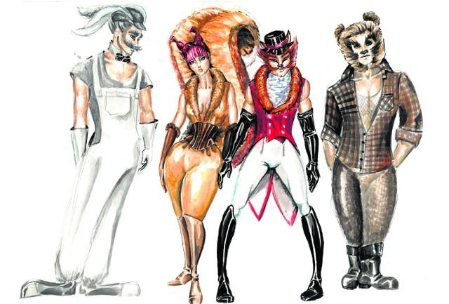 Jak zwykle piękne kostiumy zaprojektował  Sławomir Smolorz. Premiera w Teatrze Miejskim w sobotę, 5 grudnia