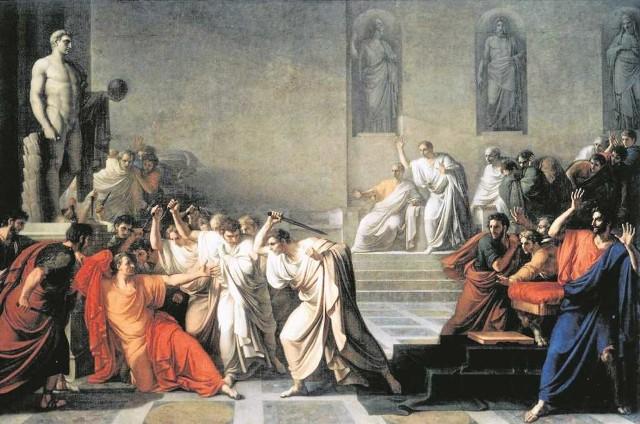 Śmierć Juliusza Cezara, Vincenzo Camuccini, 1798