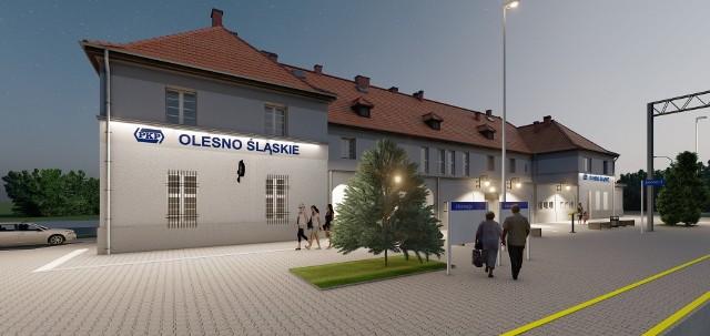 Gruntowna modernizacja dworca PKP Olesno Śląskie ma rozpocząć się na początku 2021 r.