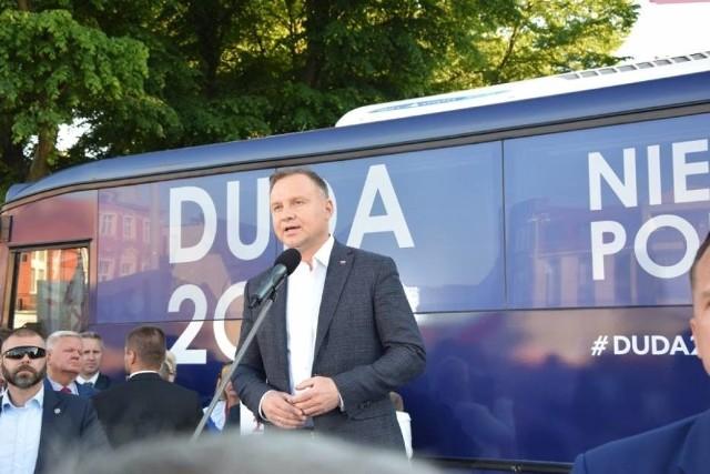 Andrzej Duda w Lęborku. 8.06.2020 r.