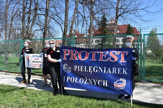 Protest pod zakopiańskimi szpitalami