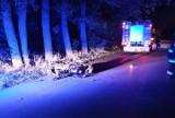 Zabiele. Groźny wypadek pijanego motocyklisty z zakazem prowadzenia. 25-latek wjechał do rowu [ZDJĘCIA]