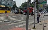 Wypadek w centrum Katowic. Auta zderzyły się na skrzyżowaniu ul. Sokolskiej z Chorzowską