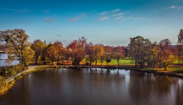 Jesień w Blachowni na zdjęciach z lotu ptaka