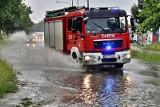 Burze na Opolszczyźnie. Strażacy wyjeżdżali do akcji 120 razy. Pożary od pioruna, podtopienia, powalone drzewa