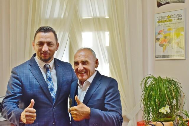 N/z Burmistrz Sanoka i Czesław Lang.
