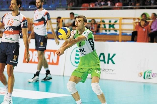 Libero Łukasz Koziura zadebiutował już w pierwszej drużynie.