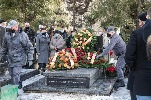 Pogrzeb Jana Kuśnierza na Cmentarzu Rakowickim w Krakowie