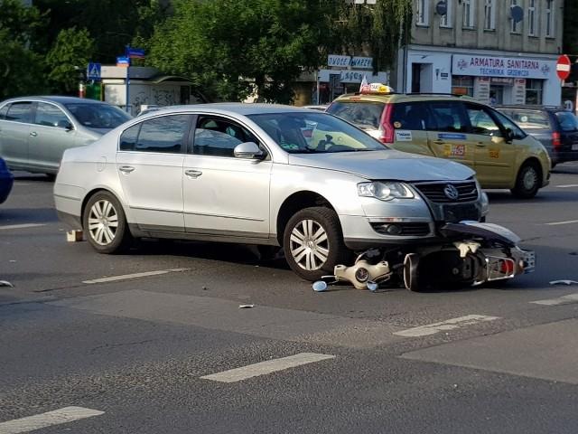 Wypadek na skrzyżowaniu Grabiszyńskiej i Zaporoskiej - 5.06.2017