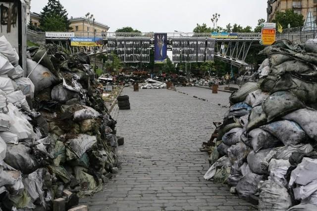 Ukraina: Majdan w Kijowie - krajobraz po rewolucji