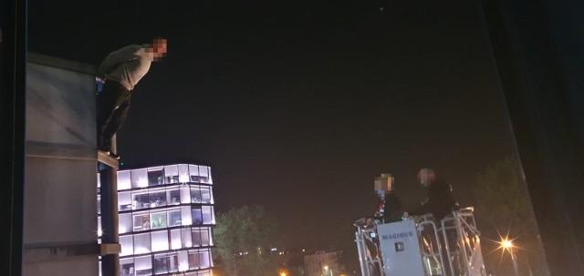 Takie sceny rozegrały się w Krakowie przy ul. Wadowickiej.