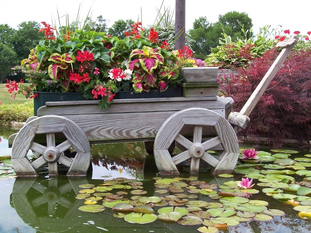 Ogród w stylu wiejskimW ogrodzie w stylu wiejskim panuje swojski klimat. Jego wygląd nawiązuje do wiejskiego życia. Charakteryzuje się swobodą i bujnością znajdującej się w nim roślinności. Elementy małej architektury powinny być jednocześnie dekoracyjne, jak i funkcjonalne.