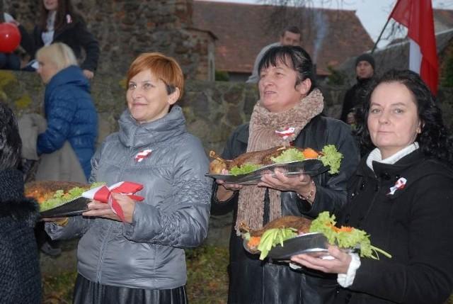 Pieczone gęsi prezentowaali autorzy, mieszkańcy gminy