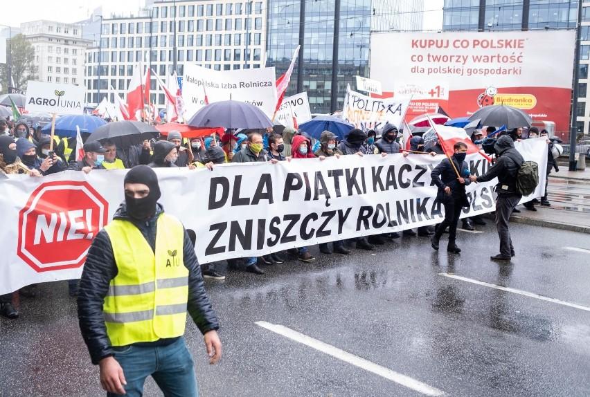 Protest rolników w Warszawie 13.10.2020