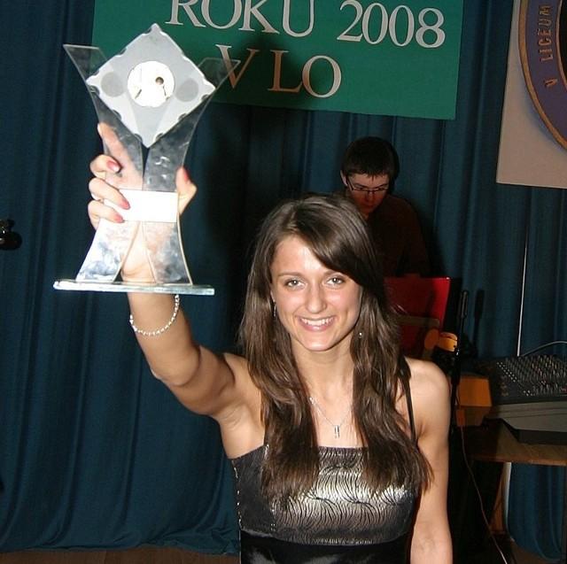 Weronika Przybysz z nagrodą.