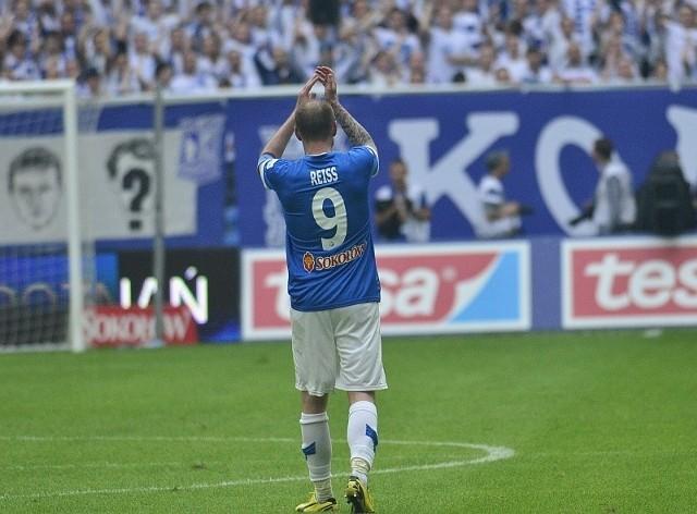 Piotr Reiss zdobył jedną z bramek dla zespołu oldbojów Lecha
