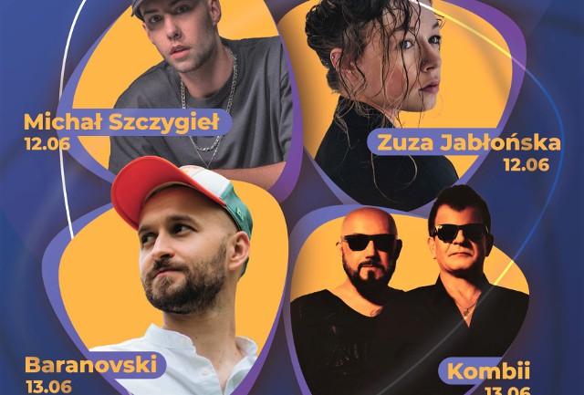 W ramach Ino Pop Festiwalu 12 i 13 czerwca w Teatrze Letnim w Inowrocławiu wystąpią: Zuza Jabłońska, Michał Szczygieł, Baranovski i Kombii