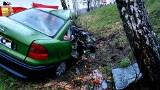 Sztabin. Wypadek śmiertelny na DK 8. Zderzenie opla z ciężarówką. Nie żyje kierowca osobówki
