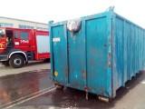 Pożar kontenera ze śmieciami w Zakładzie Unieszkodliwiania Odpadów Komunalnych Orli Staw w powiecie kaliskim