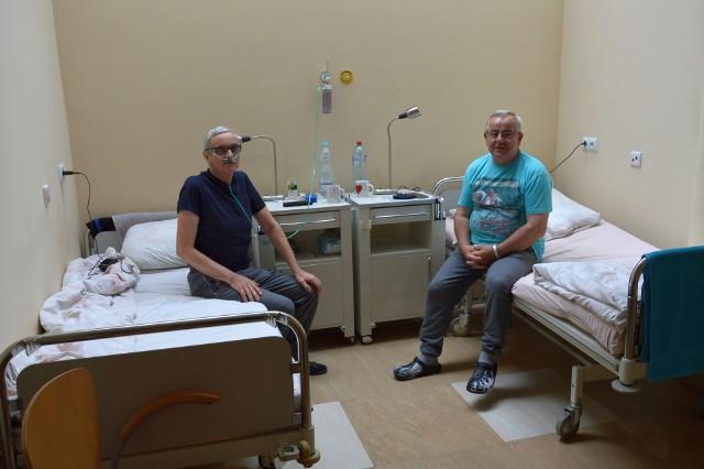 Jedna z sal oddziału rehabilitacji pocovidowej w szpitalu Sanus, gdzie pacjenci odzyskują siły po zwalczeniu choroby