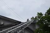 Zapalił się dach Domu Kultury Kolejarza w Stargardzie. Zablokowana była ulica Szczecińska  [ZDJĘCIA]