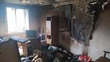 Białystok. Pożar w budynku przy ul. Barszczańskiej. W środku była nieprzytomna kobieta [ZDJĘCIA]
