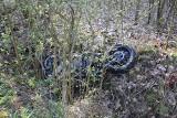 Śmiertelny wypadek w Reczu. Motocyklista wypadł z drogi