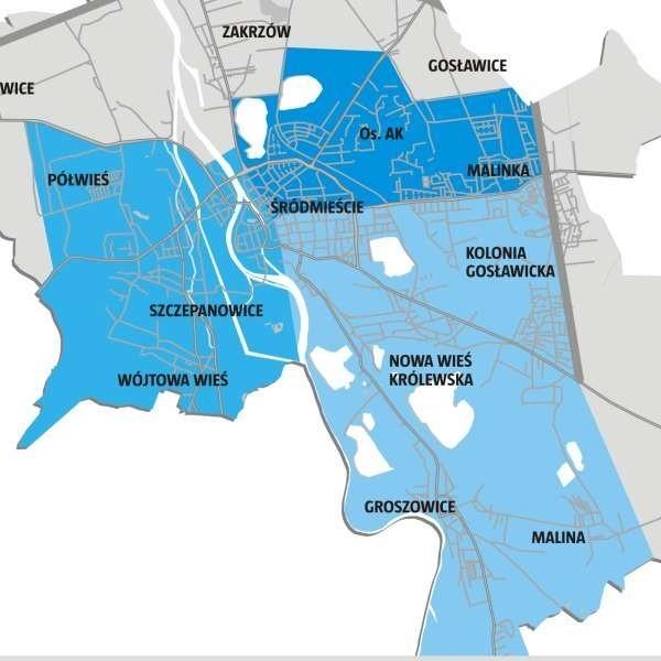 Największym, bo obejmującym w sumie 2406 mieszkań, rejonem III, ma zarządzać Zakład Gospodarki Mieszkaniowej z Bytomia. Wcześniej zarządzała nim Feroma.