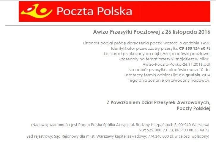 e8372f6fe3229c Poczta Polska wysyła fałszywe maile? Zawierają groźnego wirusa ...