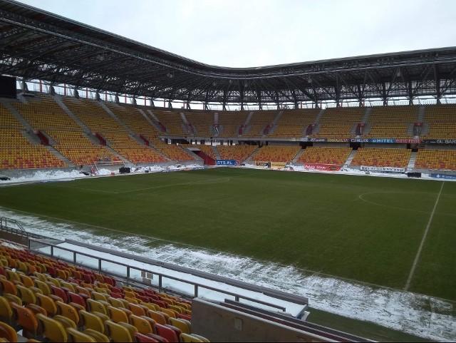 Tak prezentuje się murawa białostockiego stadionu