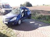 Wypadek na ul. Korzeniewskiej w miejscowości Mareza 18.07. Poszkodowana została 20-letnia kobieta, przetransportował ją śmigłowiec LPR