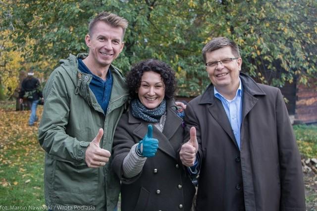 """Karol Okrasa nagrywał kolejny odcinek programu """"Okrasa łamie przepisy"""" w całości poświęcony kuchni podlaskiej."""