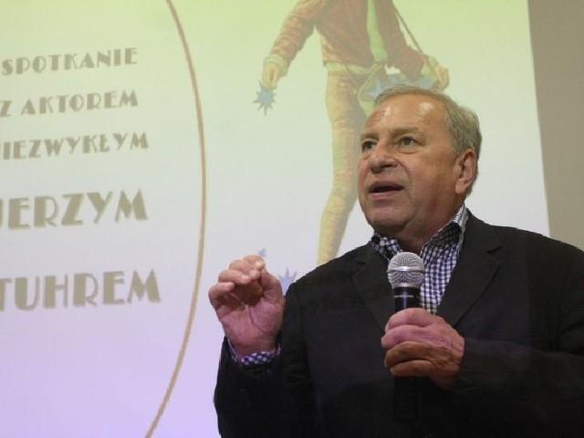 Jerzy Stuhr w czwartek w Kielcach.