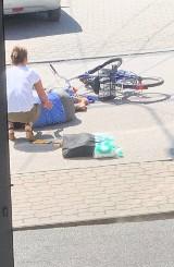 Rowerzystka potrącona przez cofający samochód na ulicy Łagiewnickiej w Busku-Zdroju